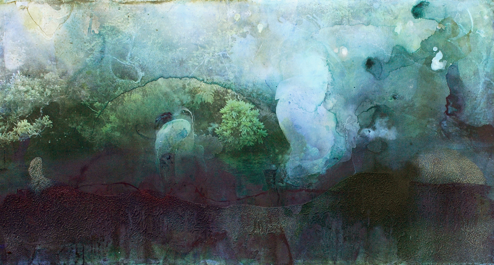 ode ii  2008    61cm  x 114.3cm x   giclee print, pigment and acrylic  on canvas