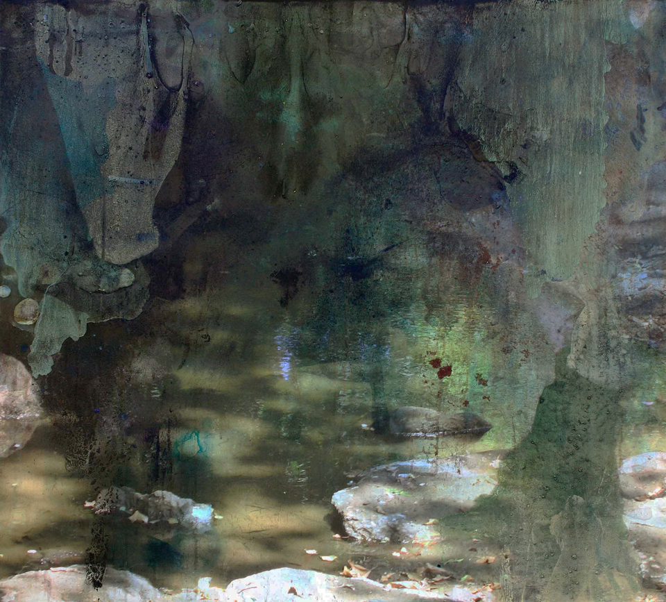 dark water  2008     114.3cm x 127cm   giclee print, pigment and acrylic on canvas