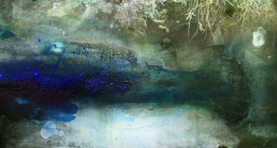 river xxxi 2008 61cm x 114.3cm x giclee print, pigment and acrylic on canvas