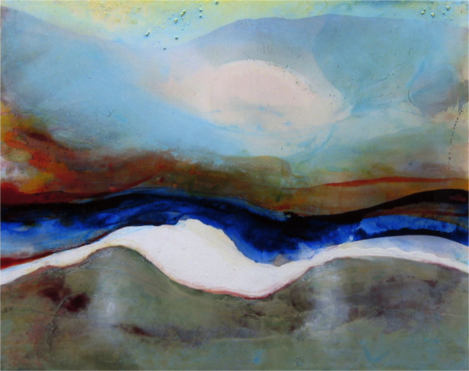 river v 153 x 142cm  pigment and acrylic on canvas