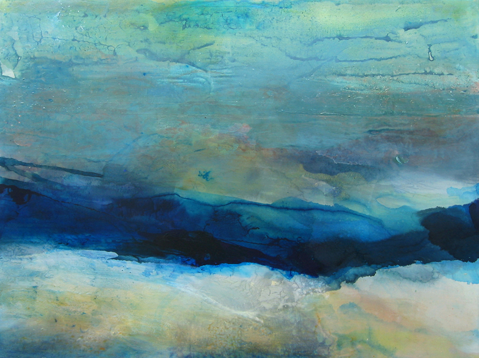 river xxiv 123 x 92cm  pigment and acrylic on canvas