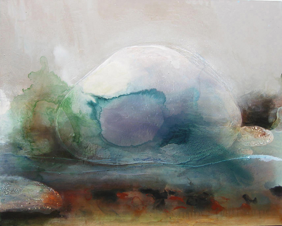 stone in water i spectrum i 153 x 142cm  pigment and acrylic on canvas