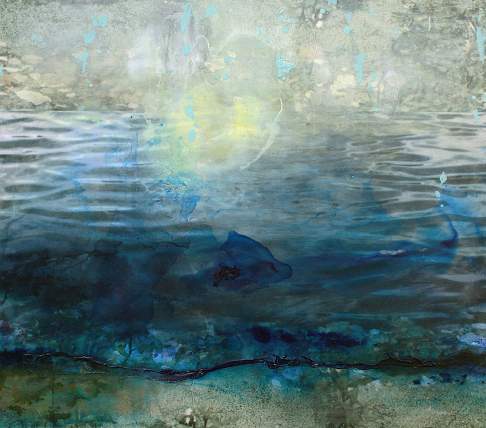 river xxx lucie winterson  112cm x 125cm giclee print, pigment and acrylic on canvas